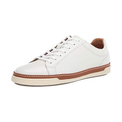 Allen Edmonds Men's Porter Derby Sneaker, White, 11.5【並行輸入品】