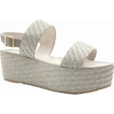 KAANAS レディースサンダル KAANAS Goa Platform Wedge Sandal Grey Synthetic