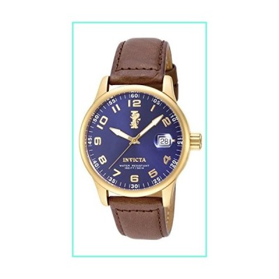 """Invicta Men's 15255 """"I-Force"""" 18k Gold Ion-Plated Stainless Steel and Brown Leather Watch並行輸入品"""
