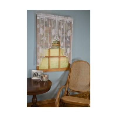 Curtain Chic Seashells Lace Swag, White 56''Wide x 38''Long【並行輸入品】