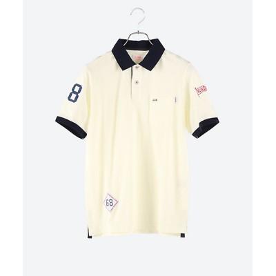 <SUN68(Men)/サンシックスティーエイト> 切替部迷彩ポロシャツ エクリュ【三越伊勢丹/公式】