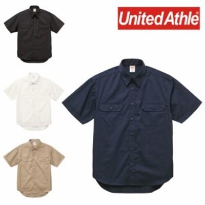 United Athle ユナイテッドアスレ T/C ワーク シャツ ワークシャツ 半袖 メンズ 177201 1772-01◆取寄せ