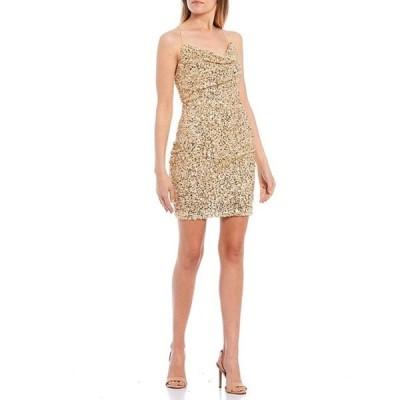 ビーダーリン レディース ワンピース トップス Spaghetti Strap Cowl Neck Sequin Sheath Dress