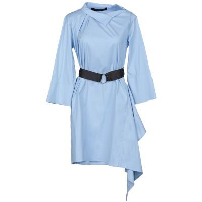 フェデリカ・トシ FEDERICA TOSI ミニワンピース&ドレス スカイブルー 44 コットン 70% / ナイロン 27% / ポリウレタン