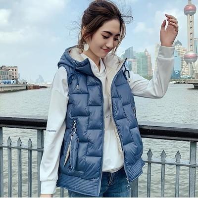 ダウンベスト ベスト レディース ゆったり 個性的 コート安い 学生 春秋 中綿 ジャケット アウター韓国 4色 ベスト