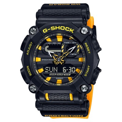 【G-SHOCK】GA-900シリ-ズ / ヘビーデューティー / GA-900A-1A9JF (ブラック×イエロー)