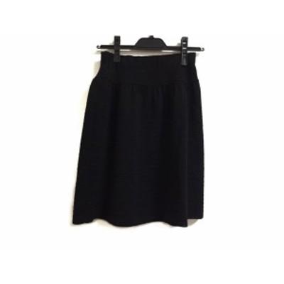 エムズグレイシー M'S GRACY スカート サイズ38 M レディース 黒 ニット/ウエストゴム【中古】20200526