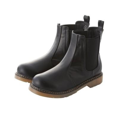 【ゆったり幅】サイドゴアショートブーツ(低反発中敷)(ワイズ4E) ブーツ・ブーティ, Boots