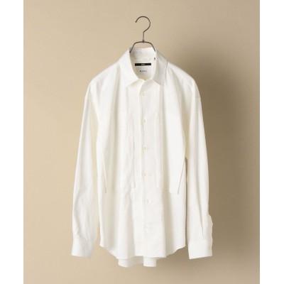 【シップス】 SHIPS: ビッグシルエット オックスフォード レギュラーカラー シャツ メンズ ホワイト LARGE SHIPS