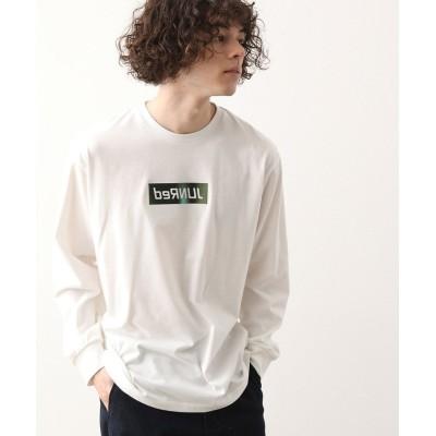 【ジュンレッド】 ミラーロゴオーロラプリントT ユニセックス ホワイト L JUNRed