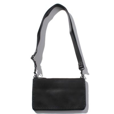 【パトリックステファン】 Leather minimini sacoche 'cornerstuds'KS メンズ ブラック F PATRICK STEPHAN