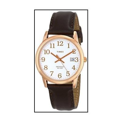 Timex (タイメックス) メンズ イージーリーダー レザーストラップ 38mm 腕時計 ダークブラウン/ローズゴー
