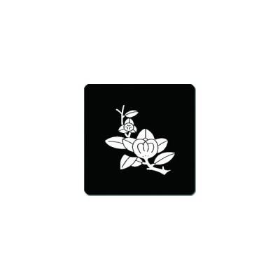 家紋シール 変わり枝橘紋 24cm x 24cm KS24-2769W 白紋