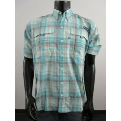 columbia コロンビア ファッション アウター NWT Mens M Columbia PFG Super Bahama Short Sleeve Fishing Shirt - Gulf Stream