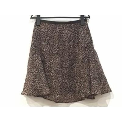 ドゥーズィエム DEUXIEME CLASSE スカート サイズ38 M レディース ダークブラウン×黒×マルチ 豹柄【中古】