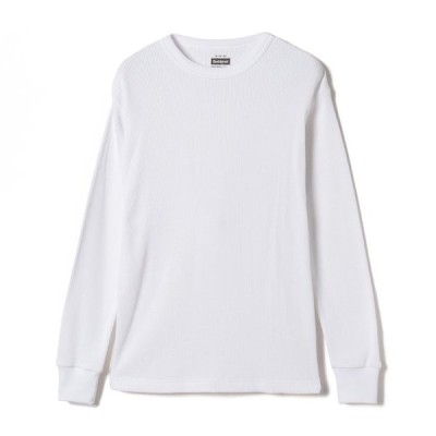Tシャツ ヘルスニット Healthknit ファンクショナルファブリック ワッフルクルーネック長袖Tシャツ メンズM (オフ/ベージュ/ブラック)