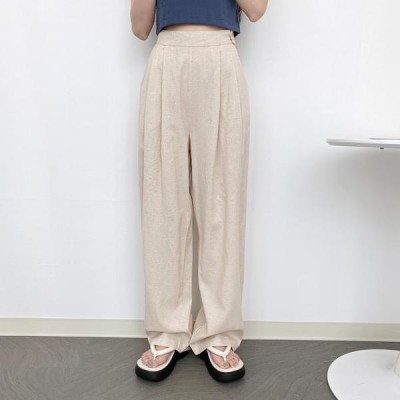 VANILLAMILK レディース パンツ Button Pintuck Wide Pants 2 Color