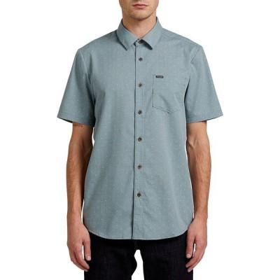 ボルコム シャツ トップス メンズ Men's Stallcup Short Sleeve Shirt Cool Blue