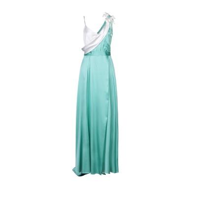 W LES FEMMES by BABYLON ロングワンピース&ドレス ライトグリーン 42 シルク 94% / ポリウレタン 6% ロングワンピ