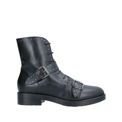 LORETTA PETTINARI ショートブーツ ブラック 35 牛革(カーフ) ショートブーツ