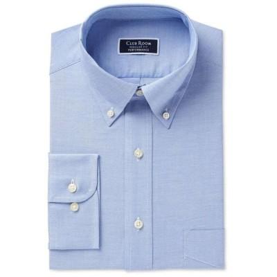 クラブルーム Club Room メンズ シャツ トップス Classic/Regular Fit Performance Easy-Care Oxford Solid Dress Shirt Light Blue