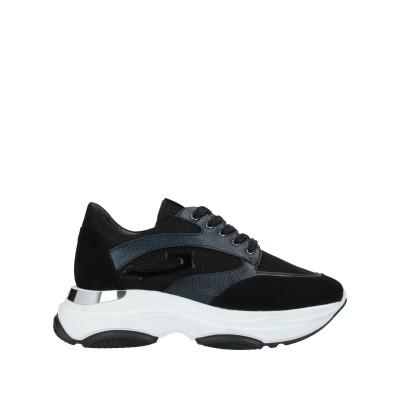 アルベルト・グアルディアーニ ALBERTO GUARDIANI スニーカー&テニスシューズ(ローカット) ブラック 35 革 / 紡績繊維 スニー