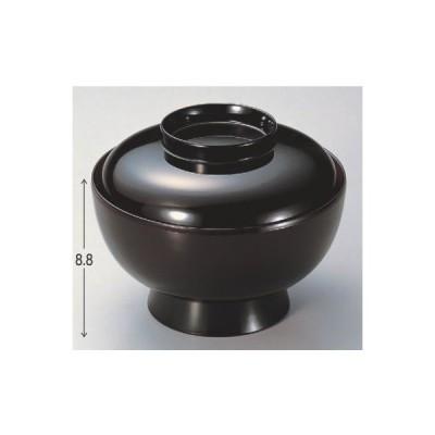 丼碗 加賀丼黒内朱 漆器 高さ88 直径:154/業務用/新品
