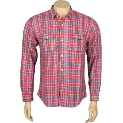 アンディフィーテッド Undefeated メンズ シャツ フランネルシャツ トップス Yardmaster Flannel Long Sleeve Shirt red