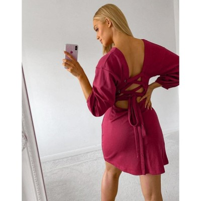 フリーピープル ミニドレス レディース Free People Bianca mini dress エイソス ASOS ピンク