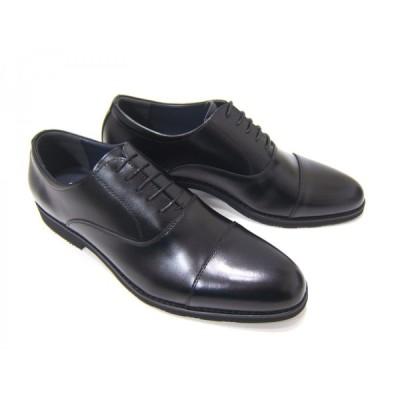Limontiba/リモンティバ 紳士靴 ロングノーズ ビジネス ストレートチップ 内羽根 送料無料 ブラック LM-3026