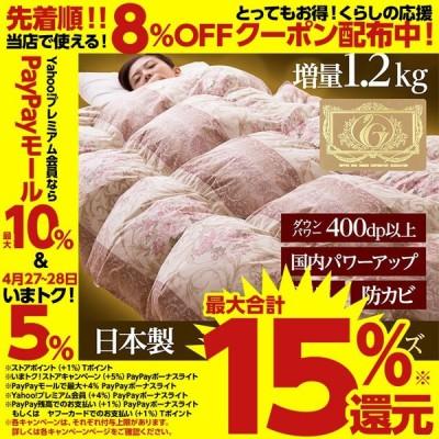 国産ロイヤルゴールドラベルホワイトダウン93%羽毛布団(シングルサイズ)