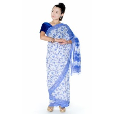 インドサリー【更紗柄】 / 民族衣装 デコレーション布 レディース エスニック衣料 アジアンファッション エスニックファッション