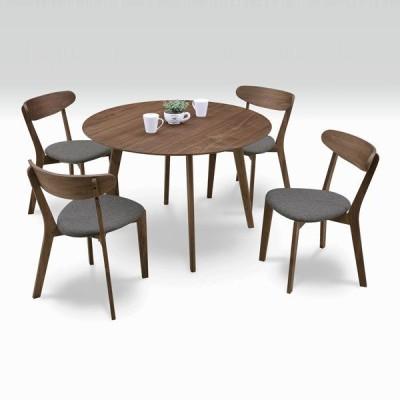 ダイニングテーブルセット 4人用 5点セット 丸テーブル 北欧