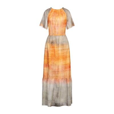 LFDL ロングワンピース&ドレス オレンジ S コットン 70% / シルク 30% ロングワンピース&ドレス