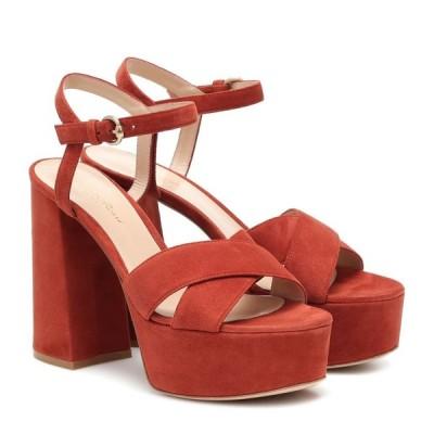 ジャンヴィト ロッシ Gianvito Rossi レディース サンダル・ミュール シューズ・靴 Bebe suede platform sandals Crimson