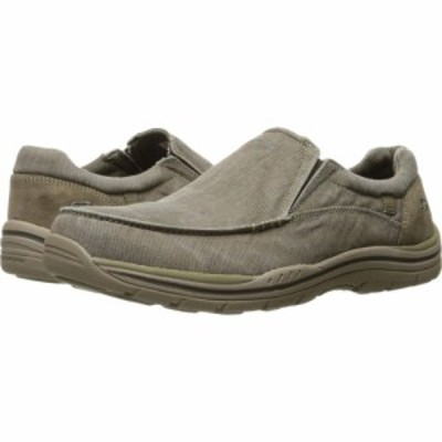 スケッチャーズ SKECHERS メンズ ローファー シューズ・靴 Expected - Avillo Khaki Canvas/Suede