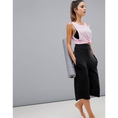 エイソス レディース カジュアルパンツ ボトムス ASOS 4505 yoga pants with turndown waistband Black