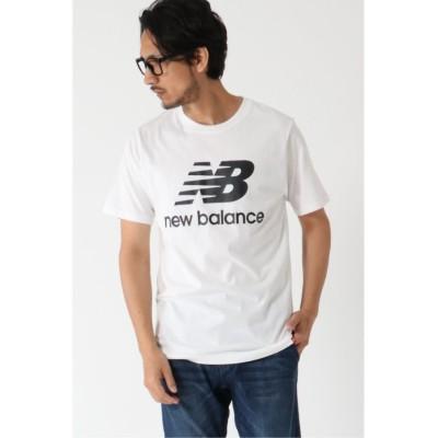 【イッカ】 New Balance スタックドロゴ半袖T メンズ ホワイト M ikka