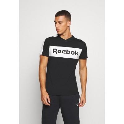 リーボック Tシャツ メンズ トップス GRAPHIC TEE - Print T-shirt - black