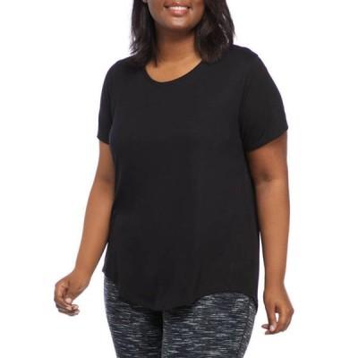 ゼロス レディース Tシャツ トップス Plus Size Short Sleeve Scoop Neck T-Shirt
