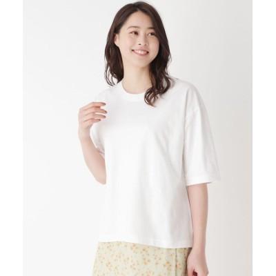 Lui Chantant(ルイシャンタン) ロゴアップリケ付きイージーTシャツ