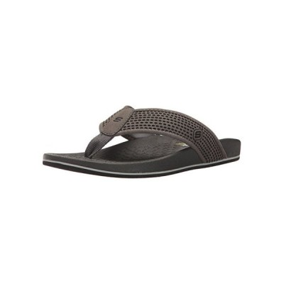Skechers USA メンズ Pelem Emiro Flat Sandal, チャコール, 8 M US(海外取寄せ品)