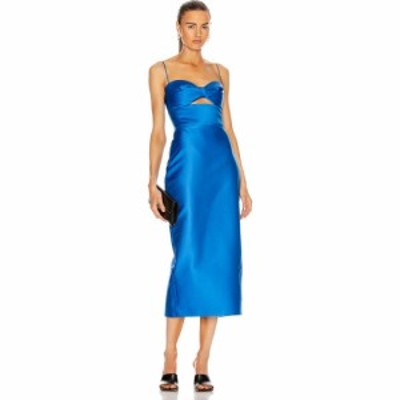 ロサリオ RASARIO レディース ワンピース ミドル丈 ワンピース・ドレス cutout midi dress Blue