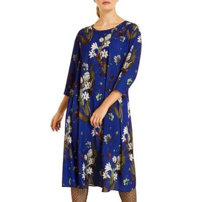 マリナリナルディ レディース ワンピース トップス Plus Size Danubio Floral Print 3/4-Sleeve Cady Dress