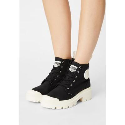 パラディウム レディース 靴 シューズ PALLABASE - Ankle boots - black/marshmallow