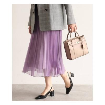 【AG バイアクアガール/AG by aquagirl】 【WEB限定Lサイズあり】オーガンジーランダムプリーツスカート