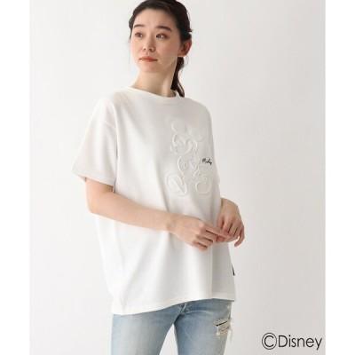 tシャツ Tシャツ DISNEY ディズニー/ミッキーマウス/エンボス加工 ポンチビッグT