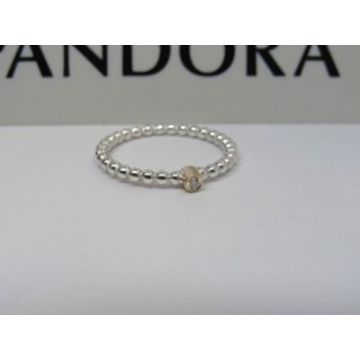Pandora パンドラ リング Evening Star w/Diamond 2 Tone Ring ダイアモンド パール