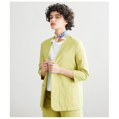 NEWYORKER / Cotton Linen Melange Twill カラーレスジャケット WOMEN ジャケット/アウター > テーラードジャケット