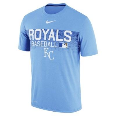 ナイキ メンズ MLB Kansas City Royals Nike Authentic Collection Legend Team Issued T-Shirt Tシャツ 半袖 Light Blue
